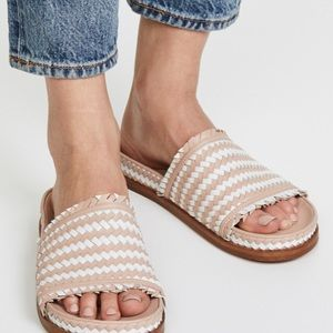 Sigerson Morrison AOVEN Woven Fringe Sandals 9B